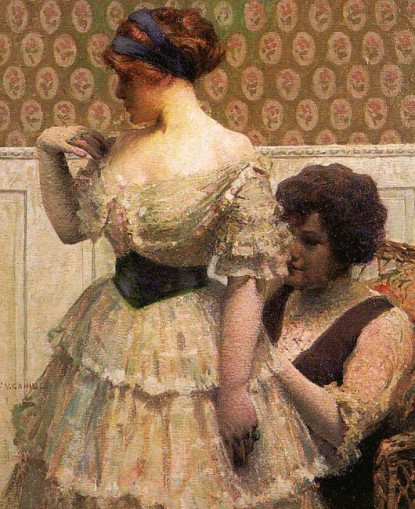 William Vincent Cahill (1.878-1.924). The Dress Fitting. 1.912.