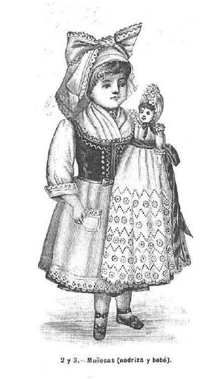 Muñeca. La Moda elegante. 1.890. Biblioteca Universitaria de la UGR. CC ES.