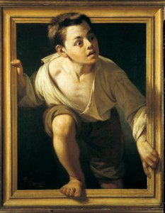 """Obra de Pere Borrell del Caso (1.835-1.910) """"Escapando de la crítica"""" de 1.874 considerada el mejor prototipo del dominio del trampantojo"""
