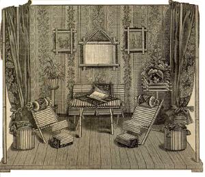 Habitación de muñecas. La Moda elegante, 1889. Se encuentra en la Bibllioteca Universitaria de la Universidad de Granada. CC ES
