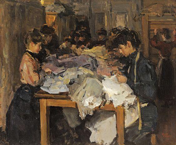 saac Lazarus Israëls (1.865-1.934). Seamstresses at Atelier Paquin, París. 1.905.