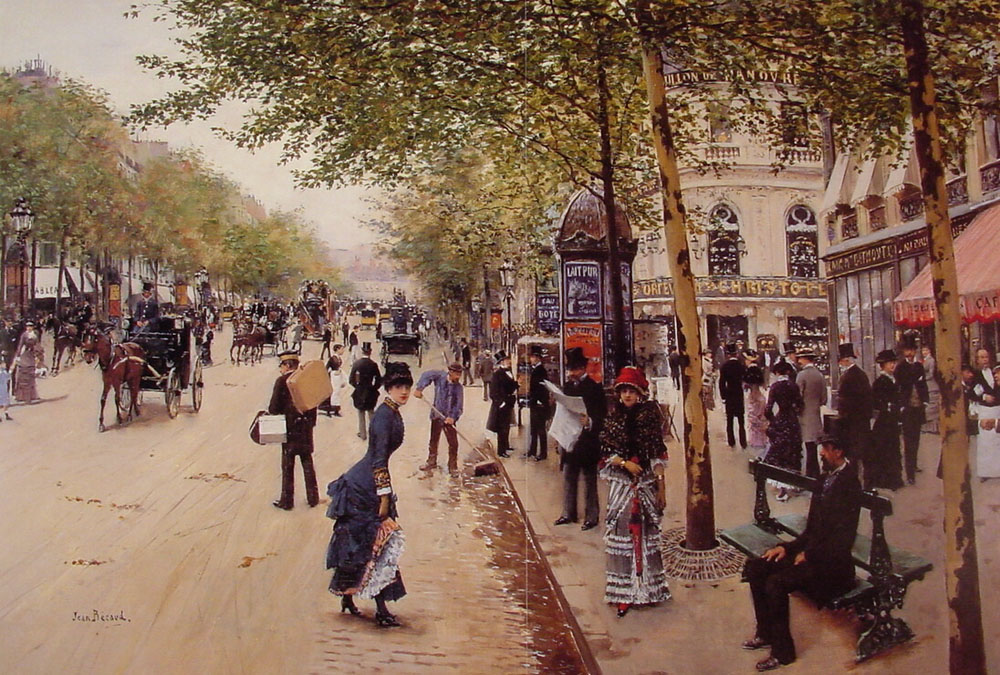 Jean Béraud: Boulevard des capucines. Internet.