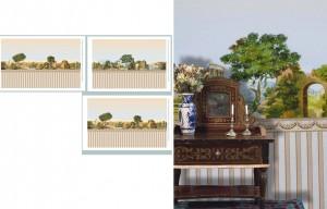 """Papel escénico """"Toscana"""". Cortesía de Les Chinoiseries Miniatures (1:12). http://www.leschinoiseries.com/©"""