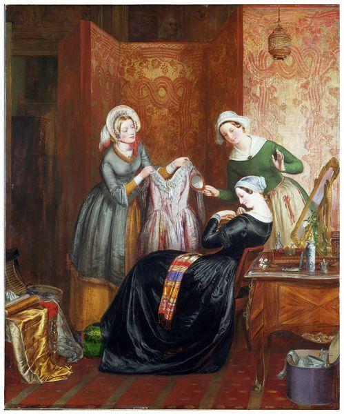 Richard Redgrave (1.804-1.888). Throwing off her weeds . Victoria and Albert Museum . 1.846.