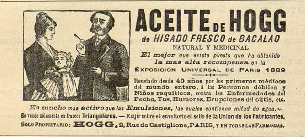 El anuncio aparece en La Moda elegante, 1893. Biblioteca Universitaria de la UGR. CC ES