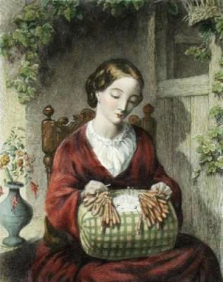 La encajera de Tomas Woolner, 1825-1892)