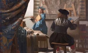 Vermeer-Alegoría-de-la-pintura-detalle