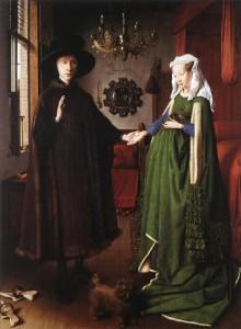 Matrimonio Arnolfini obra de Jan Van Eyck. Imagen tomada de internet.