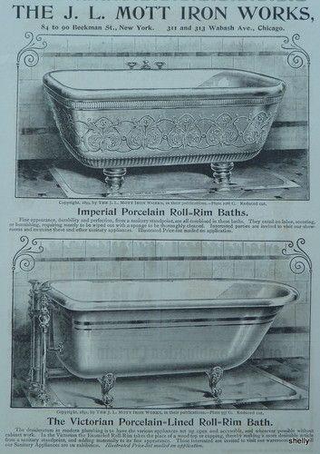 Bañera. Catálogo de J.L. Mott Iron Works, 1.894.