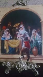 Trampantojo. Tablilla ignota del s. XVIII?.23 x 19 cm. Puede ser obra de un discípulo del supuesto taller de Goya o de un imitador del genial pintor. Colección privada. ©