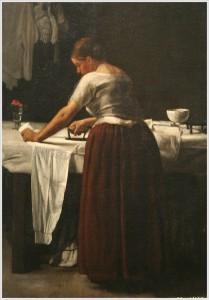 François Bonvin (1817-1887). Mujer planchando