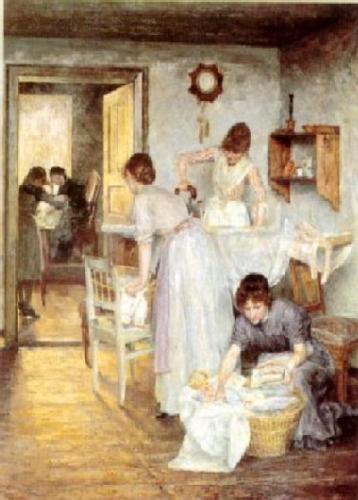 Planchando. Ivana Kobilca (1861-1926)