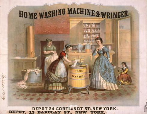 Lavadora de 1869.