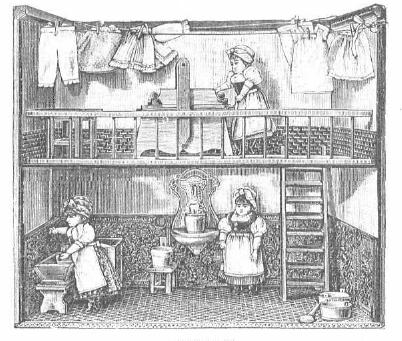 Lavandería de muñecas. La Última moda. 1.899. BNE.