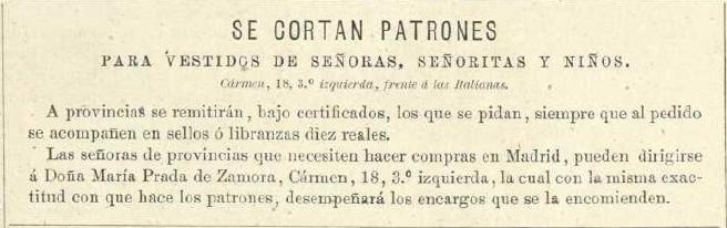 La Moda elegante, 1876. Biblioteca Universitaria de la UGR. CC ES.