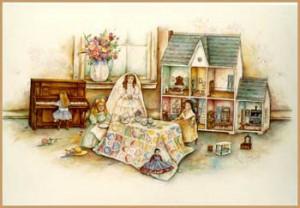 """""""Sarah Beth's Tea Party""""por Paula Vaughan"""". Cortesía de la propia pintora.©"""