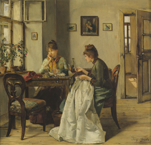 Josef Gisela (1.851-1.899). The Seamstress . 1.897.