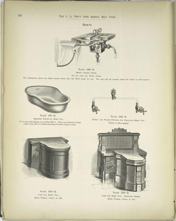 Modelo de cuarto de baño del Catálogo de J.L. Mott Iron Works, 1.888.
