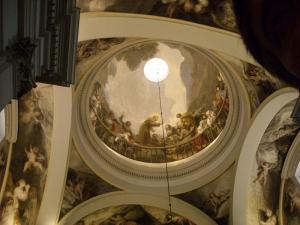 Detalle de la cúpula de la Ermita de San Antonio de la Florida en Madrid obra del genial pintor aragonés Francisco de Goya y Lucientes. Imagen tomada de internet.