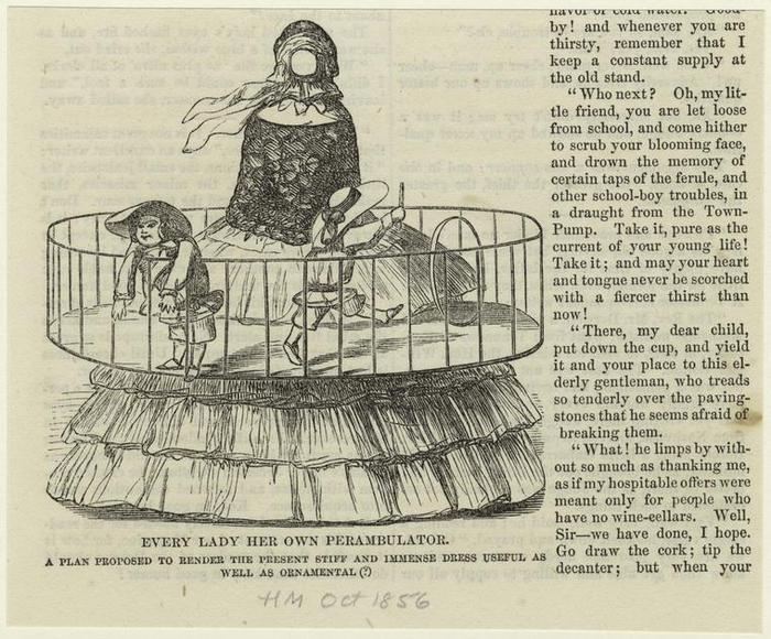 Consejo: Señora, su inmenso traje le permite cuidar de sus hijos y estar bella a la vez.