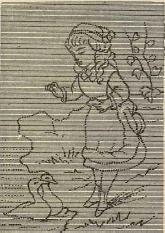 Dibujo para bordado Greenaway. Salón de la moda, 1884. Biblioteca Universitaria de la UGR. CC ES.
