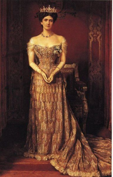 Lady Curzon retratada por William Logsdail.