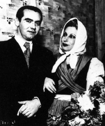 García Lorca y Margarida Xirgu.