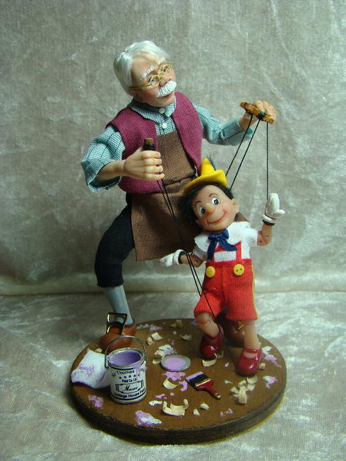 Geppetto y Pinocho. Walt Disney. ©
