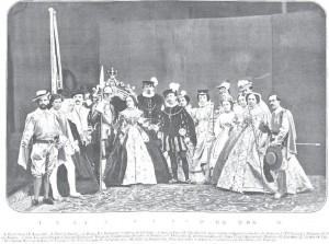 Duques de Fernán Nuñez en un bailes de disfraces organizado por ellos en 1863