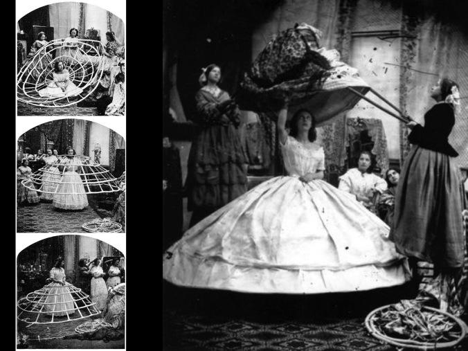 Una dama es ayudada a vestirse porque sola no puede. Foto tomada de internet.