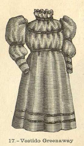 Vestido Greenaway. Salón de la moda, 1.893. Biblioteca Universitaria de la UGR. CC ES.