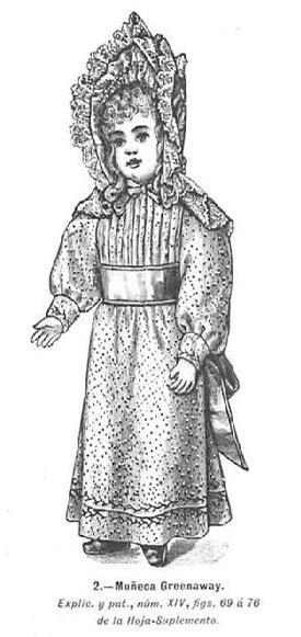 Muñeca Greenaway. La Moda elegante ilustrada. 1892.