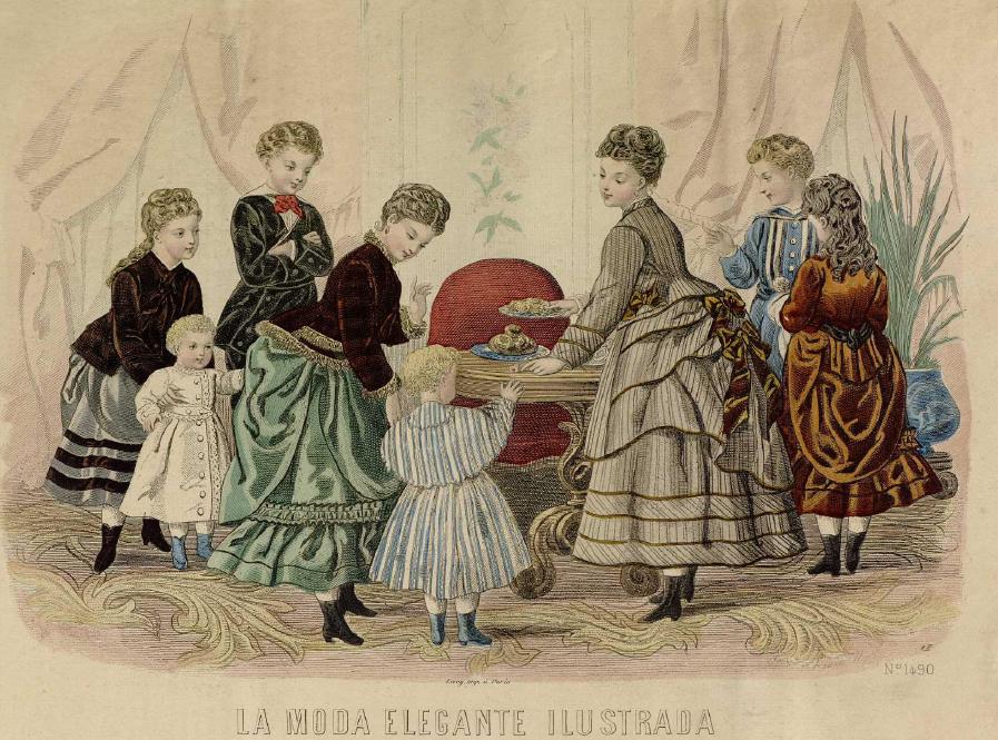 La Moda elegante ilustrada. 1.875. Biblioteca Universitaria de la UGR. CC ES.