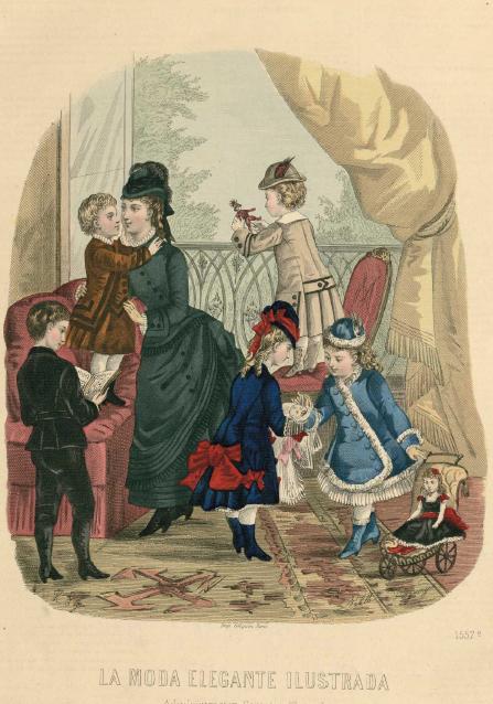 La Moda elegante ilustrada. 1.876. Biblioteca Universitaria de la UGR. CC ES.