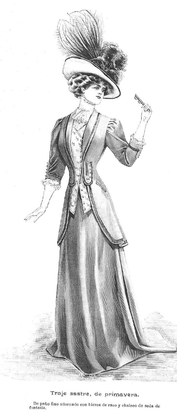 La Moda elegante. Abril, 1.908.