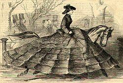 - Es complicado saber si es el caballo o la señora quien lleva la crinolina.