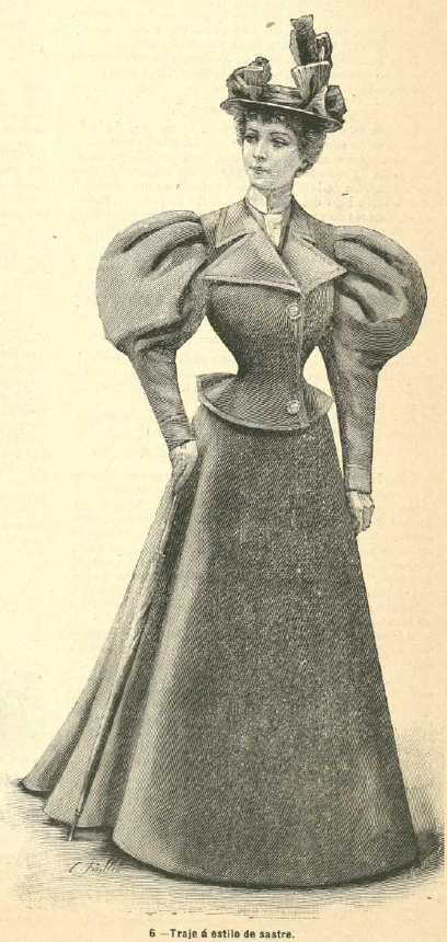 Traje sastre. La Moda elegante. 1.896 Biblioteca Universitaria de la UGR. CC EE
