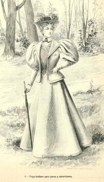 Traje trotteur. La moda elgante. 1.896. Biblioteca Universitaria de la UGR. CC ES.