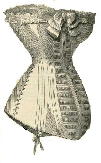 Corsé maternal. La Moda elegante. 1879. Biblioteca Universitaria de UGR. CC ES