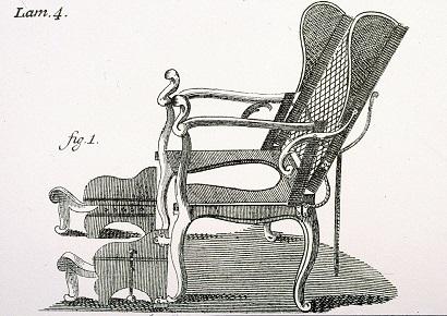 Silla de parto de finales del s. XIX. Fue diseñada por Paul Degen.