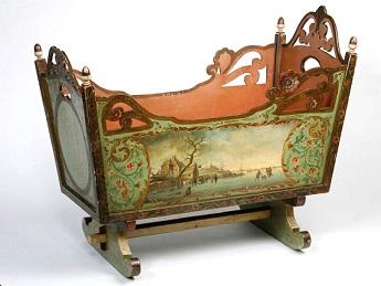 Cuna holandesa. 1.830-1840. Ilustración tomada de internet.