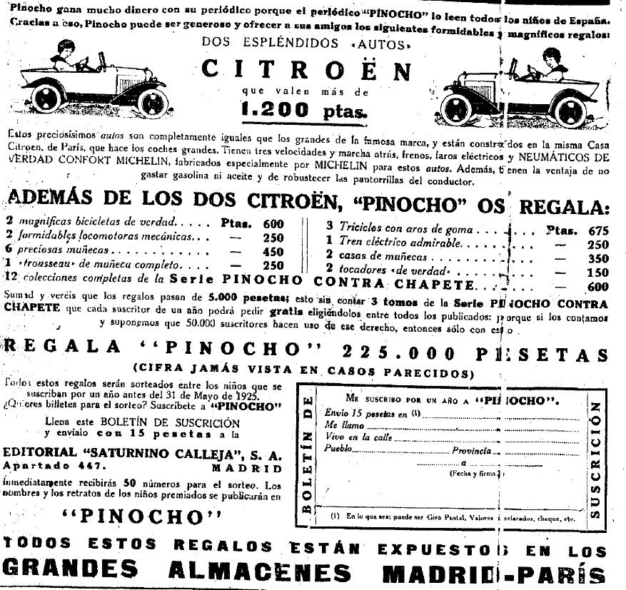 Sorteo publicado en La Época. 24 de marzo de 1.923. BNE.