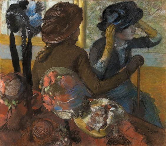 Edgar Degas, En la sombrerería. 1.882. Museo Thyssen-Bornemisza, Madrid. Edgar Degas.